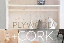 Cork + Plywood TREND. ITALIANBARK / Cork and plywood interior trend. Inspirations selected by ITALIANBARK