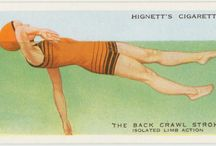 cigarette cards ~ how to swim