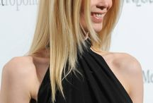 Claudia Schiffers long layered hairstyle