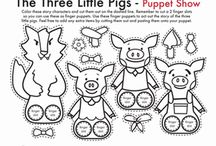 fichas cuentos 3 little pigs & 5 little monkeys