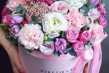 flower hat boxes