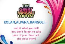 The Great Rangoli Contest / Floor art in India is called Rangoli, Kolam or Alpana