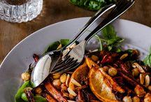 Roasted marokan  an salad with cheek peas