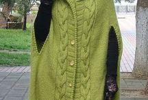 Пальто. Вязание.