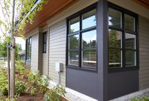 Painted Windows / Add a splash of colour to your exterior with painted window frames / by Centra Windows Inc.