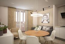 Двухкомнатная квартира в современном стиле.