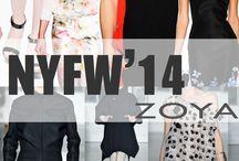 NYFW 2014 / Mark and Estel, Zimmermann, Rolando Santana, Alexandre Herchcovitich, Peter Som, Zang Toi, Noon by Noor, Zana Bayne, Timo Weiland, Zero + Maria Cornejo gibi yaratıcı tasarımcılar, NYFW 2014'de ZOYA Oje'yi tercih ederek gösterilerini taçlandırdılar.
