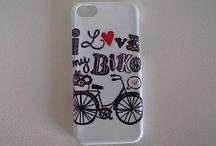 Rower - I L bike / Etui z grafiką roweru.