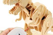Robotické hračky / Robotická hračka 3D puzzle. Detské robotické skladacie hračky pre deti.