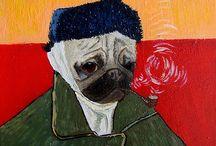 Pugs portraits by Yuliia Ustymenko/ Портреты мопсов (Юлия Устименко)