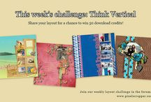 Pixel Scrapper Layout Challenges / Looking for prompts to get your scrapbooking layouts started? Look no further