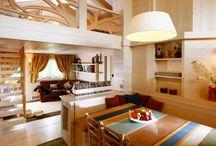Interiéry - převaha dřeva