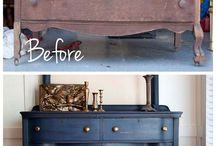 Furniture makeover & upcycling