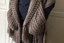 EASY Womens Scarf Pattern, Crochet Wrap Pattern Easy, Boho Crochet Shawl with Pockets and Fringe