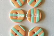 Polymer clay buttons by Elixir Crafts