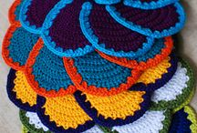 Crochet potholders and dishcloths