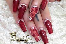 Móng tay đắp hoa nổi dfinhs đas