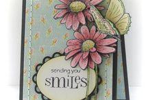 Flower handmade cards