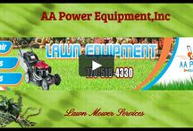 Videos - AA Power Equipment, Inc / AA Power Equipment is family owned and operated small engine repair store that repair all major brands of lawn mowers and lawn equipment. It is also a warranty servicing dealer for Honda, Toro, ECHO, Kawasaki, Brigg & Stratton.