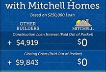 Mitchell Homes Advantages / Discover the many advantages of building with Mitchell Homes. Other builders make you pay for options that are included on our long list of standard features. Plus, when you choose Mitchell Homes as your custom on your lot home builder, you don't pay a down payment, there's no construction loan, and we pay your closing costs!