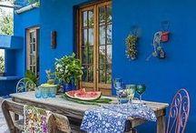 color azul para quincho