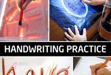 hand writing practise