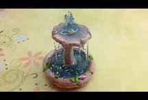 fuente  en porcelana  fria