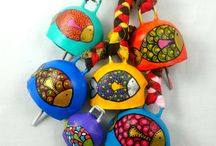 COPPER COW BELLS / All handmade copper cow and goat bells. Each piece is uniquely painted for you.