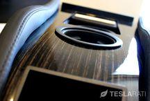 Teslarati.com - Teslaccessories Center Console Insert (CCI) Review / Reviewing the custom Teslaccessories.com Center Console Insert (CCI) on Obeche Wood Gloss
