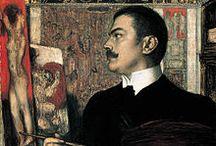 Franz von Stuck / Franz von Stuck (Tettenweis, 23 febbraio 1863 – Monaco di Baviera, 30 agosto 1928) pittore simbolista-espressionista, nonché scultore, illustratore e architetto tedesco.