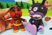アンパンマン アニメ❤おもちゃ ガチャガチャのカプセルでねんどアンパンマン作成!Anpanman toys
