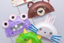 Μάσκες με χάρτινα πιάτα