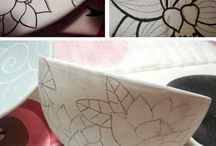pottery painting fan