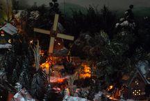 Christmas Village Pamela Bruschke / Une merveille à découvrir absolument, même s'il date de 2012, il mérite d'être vu et découvert car c'est un petit bijou qui nous donnera beaucoup d'inspirations pour nos futurs villages...