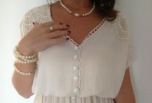White and pearls