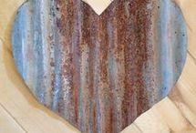 Corrugated iron art
