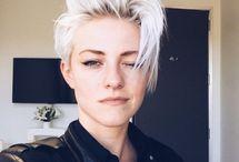 White hair style
