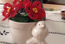 My bead flowers / Boncuktan cicekler
