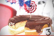 Pastel de crema de Boston para fiestas