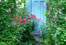 Romantische Gartentür