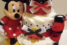 coccarde torta pannolini cocarde con pannolini ec.Minnie Mouse
