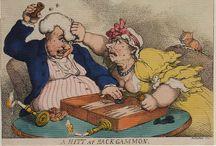 Gillray, Rowlandson et. al. / The gaming related art of James Gillray (1757 - 1815), Thomas Rowlandson (1756 - 1827) and George Cruikshank (1792 - 1878).