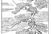 Дерево трафарет