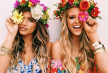 Spring is in the Hair / Put some florals in your mane.