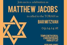 Bar Mitzvah and Bat Mitzvah Invitations / Each card comes in over 150 different colors as each card can be customized instantly online.  Add text and change the colors to match your style. / by Basic Invite