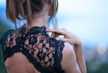 Lace, tulle + wedding...