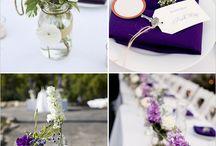Casamento - decoração roxo