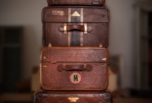 """""""All packed & ready to go"""" / My bags are packed and ready to go.  Vintage, new, hard side, soft sides, duffels, backpacks, trunks - what can you pack  / by Judy P Brannon"""