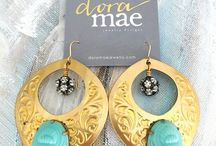 Vintage Earrings / Dora Mae Jewelry one of a kind modern vintage earrings