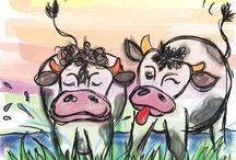 koeien tekenen